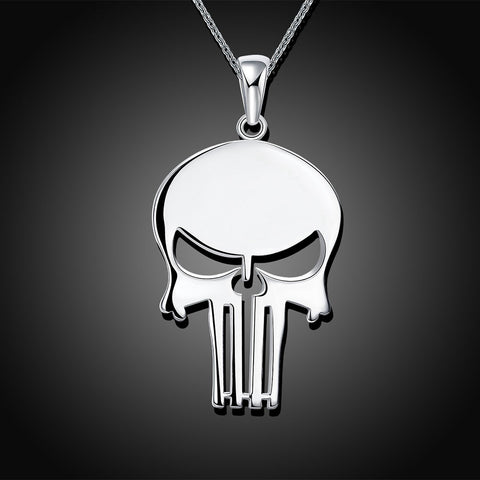 Punisher Skull Silver Necklace