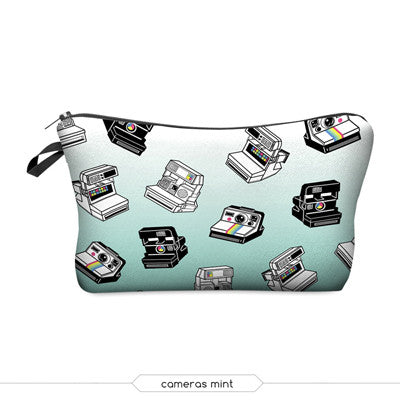 Large Cosmetic Bag 2015 3D Printing Mexican Skull Star Fashion Women Brand Travel Makeup Case Christmas Gift H34