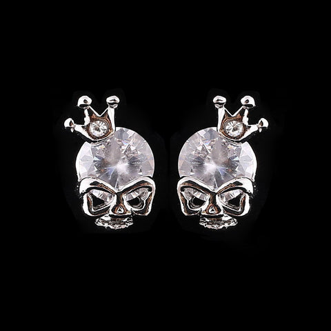 Crystal Stud Earrings Skull Design