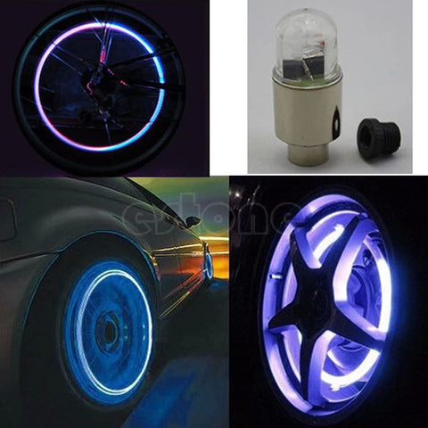Valve LED Bulb Caps Wheel Lights