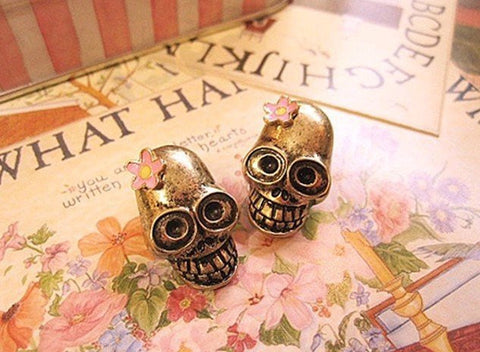Retro Fashion Skull Stud Earrings