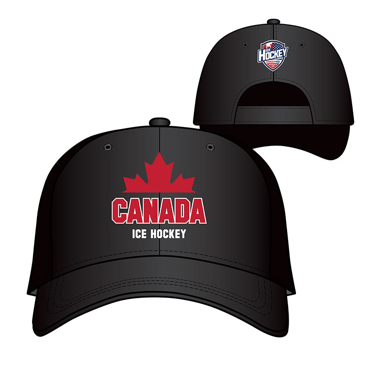 Black Canada Baseball Hat