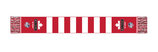Red and White Scarf Canada