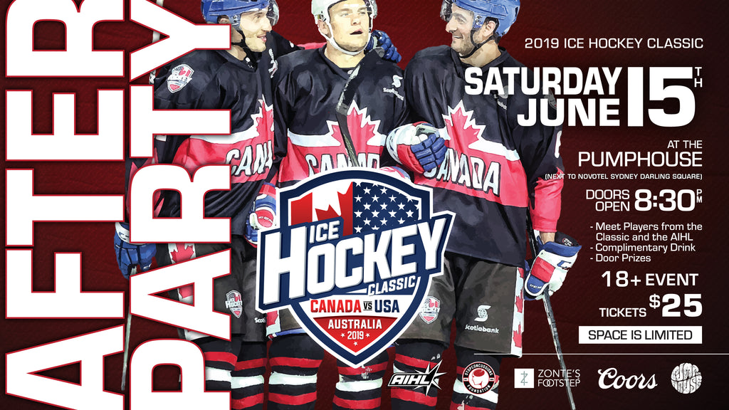 2019 Ice Hockey Classic SYDNEY After Party - Saturday 15th June