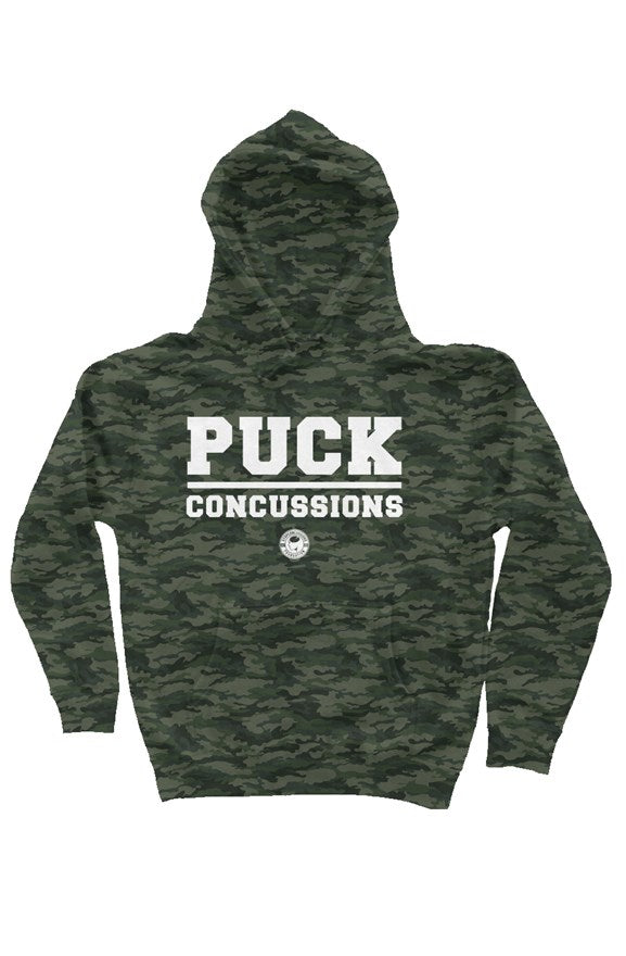 PUCK CONCUSSIONS CAMO HOODIE