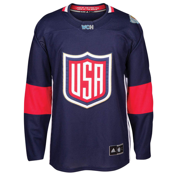 USA NHL Men's Adidas Navy 2016 World Cup of Hockey Premier Home Jersey