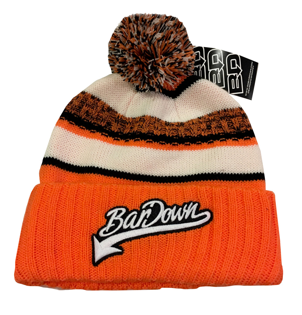 Bar Down Orange Beanie