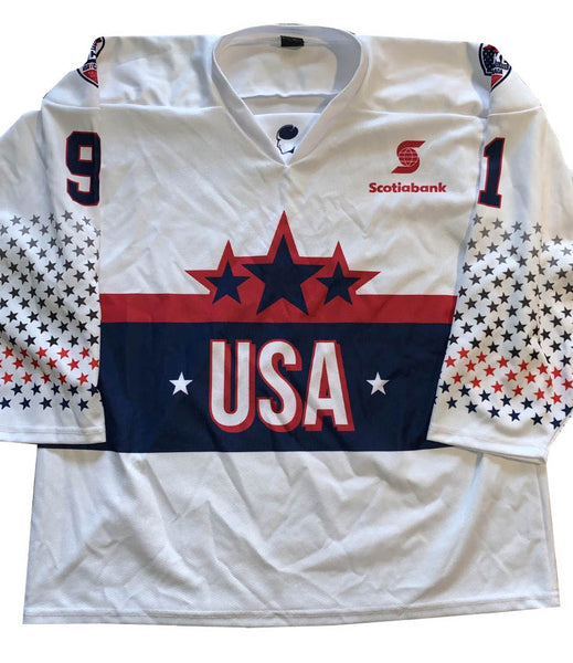 SHANE BRENNAN #91 USA - 2018 ICE HOCKEY CLASSIC TOUR - PLAYER SIGNED JERSEY