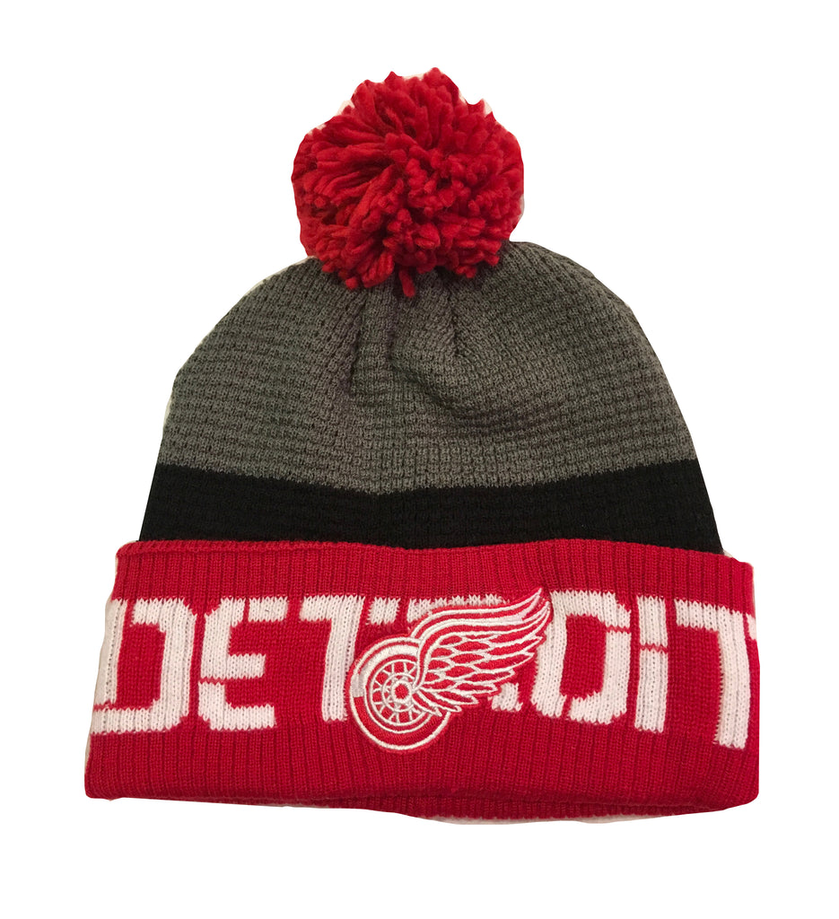 Detroit Red Wings Grey/Red Beanie