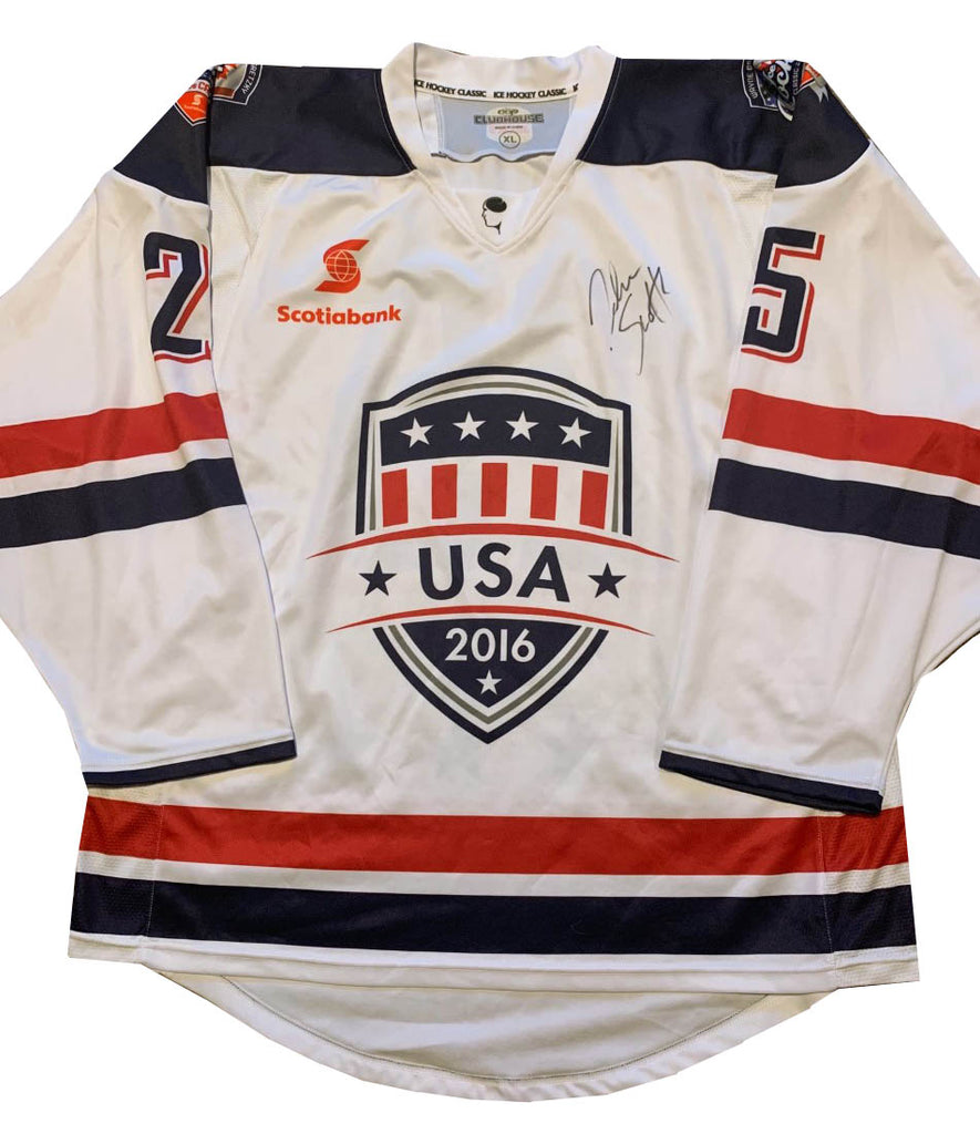 JOHN SCOTT #25 USA CAPTAIN - 2016 ICE HOCKEY CLASSIC TOUR - PLAYER SIGNED JERSEY
