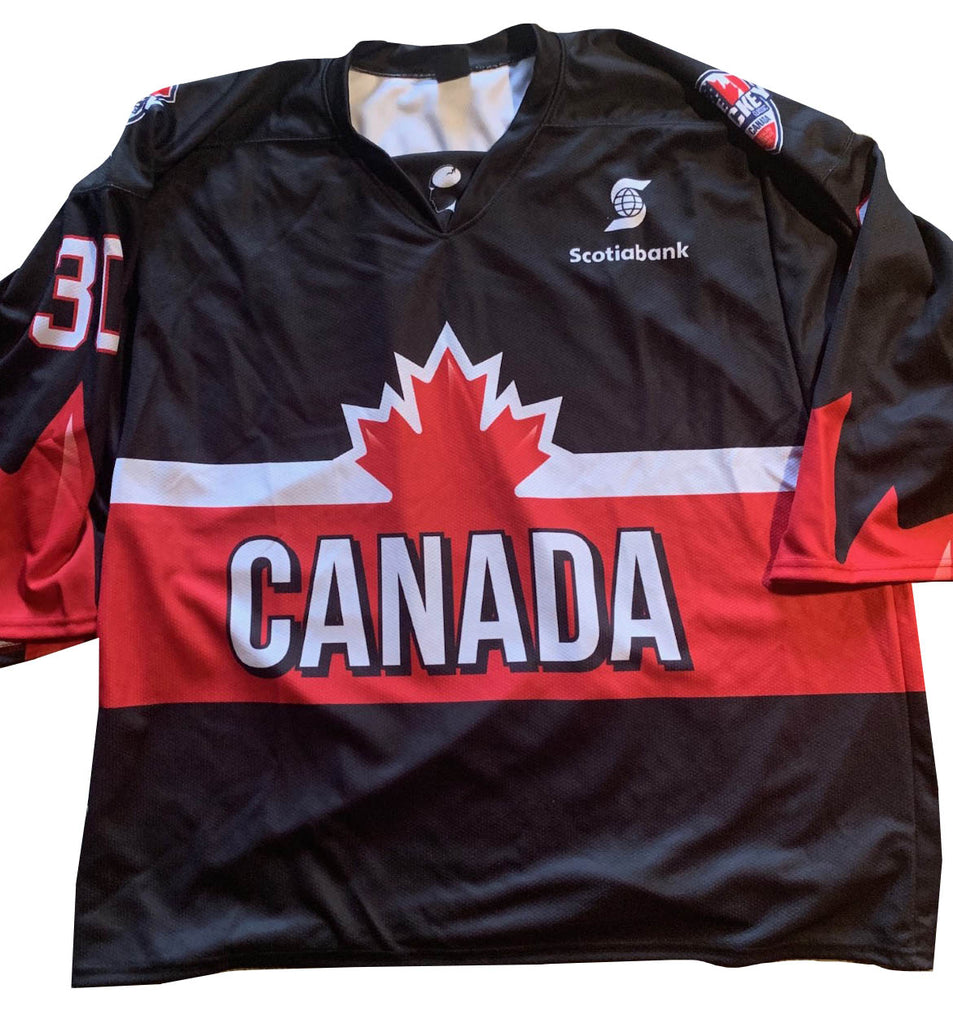 BEN SCRIVENS #30 CANADA - 2018 ICE HOCKEY CLASSIC TOUR - PLAYER SIGNED JERSEY