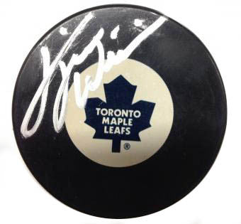 DAVE 'Tiger' WILLIAMS Autographed Puck