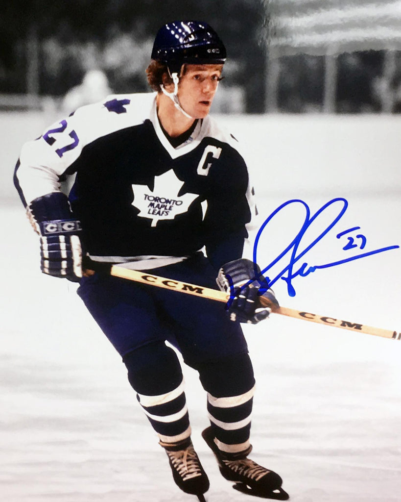 Darryl Sittler Autographed Photo - 8x10 Blue