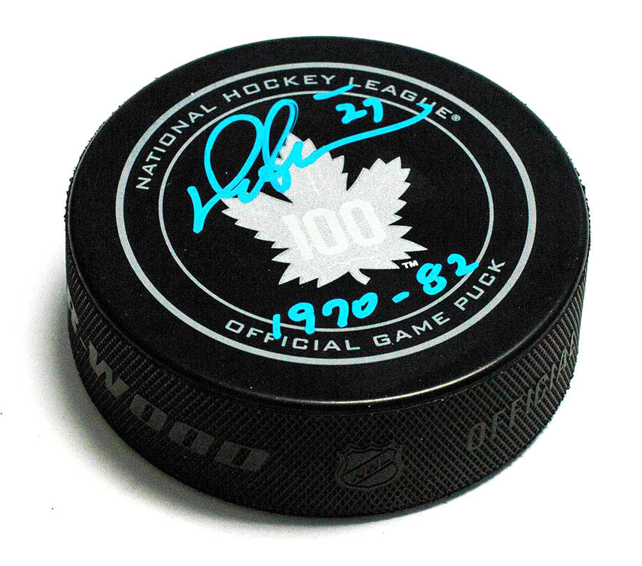 Darryl Sittler Autographed Puck with Years Played Centennial