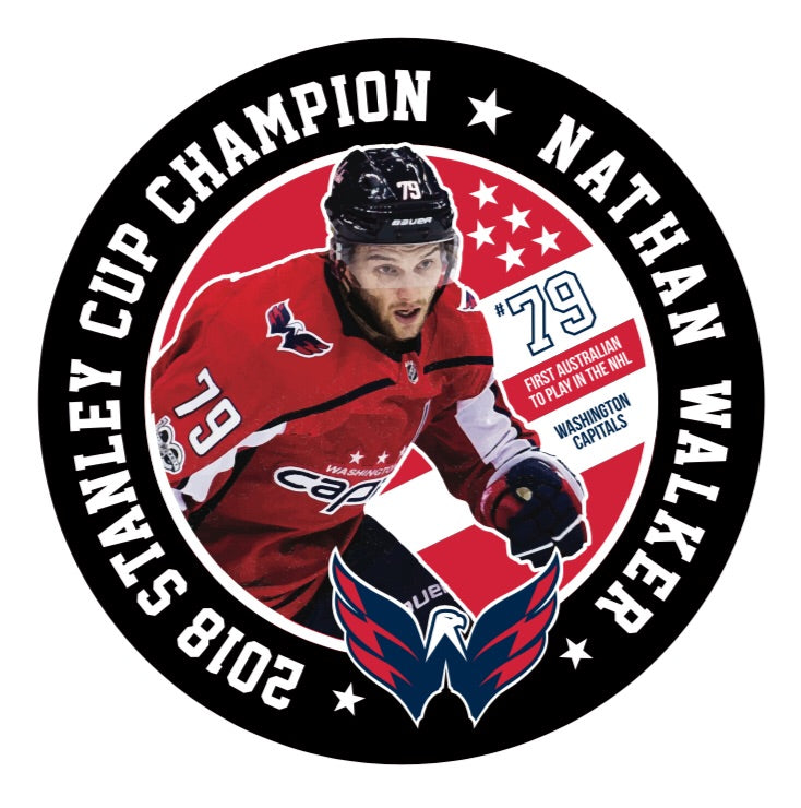 NATHAN WALKER 2108 Stanley Cup Limited edition signed puck