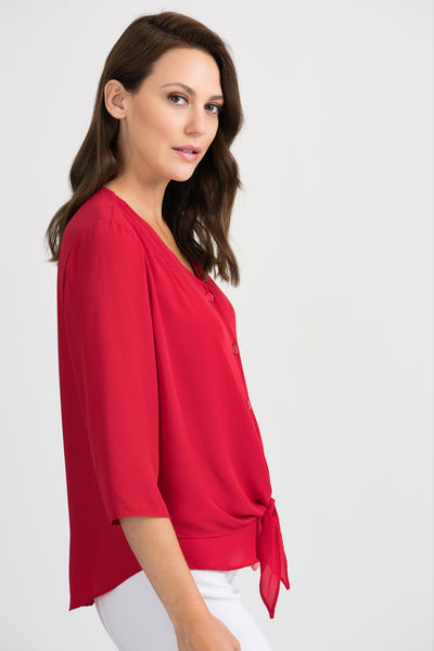 Joseph ribkoff red blouse