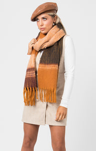 Brown and orange scarf
