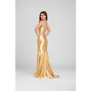 Stunning fitted gold Ellie wilde dress