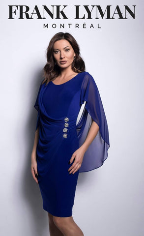 Frank lyman royal blue dress
