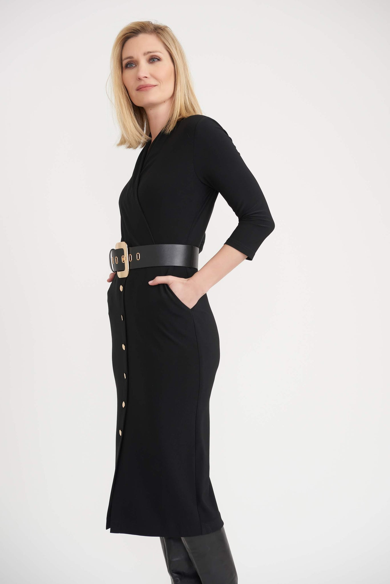 Black midi Joseph ribkoff dress