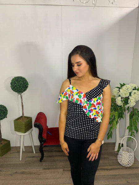 Retro spot darling top