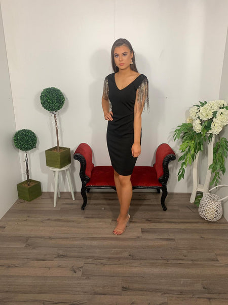 Frank Lyman fitted black dress