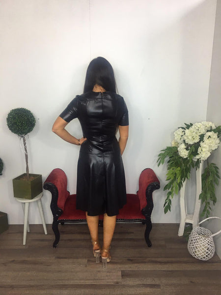 Leatherette dress