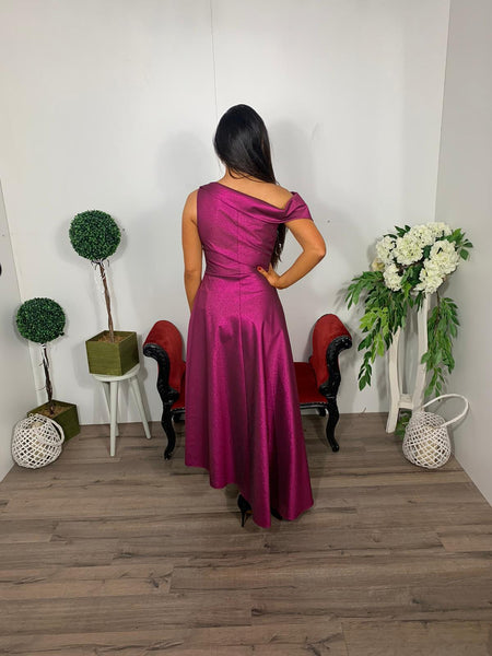 Red n royal burgundy dress