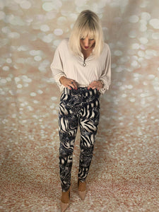 Frank lyman printed trousers