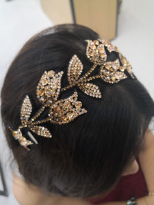 Gold crystal hairband