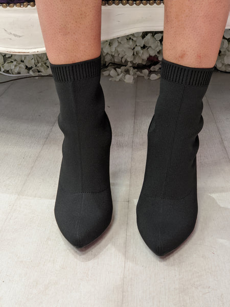 Stiletto sock boot