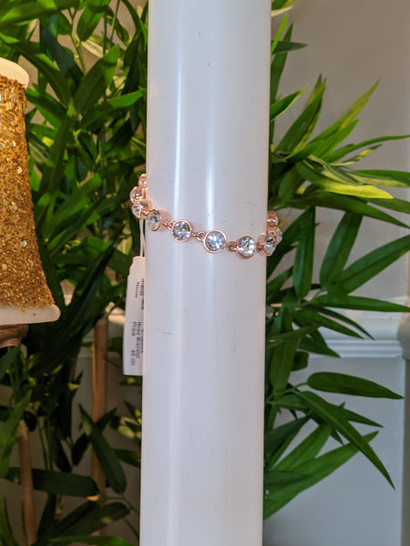 Absolute rose gold and diamond 58 braclet