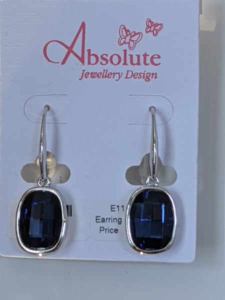 Midnight blue earrings