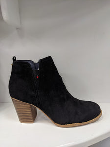 Black escspe suede boot