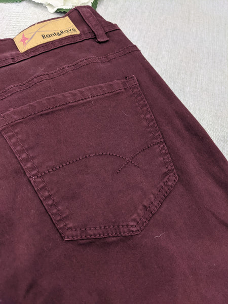 Rant and rave plum patty jeans