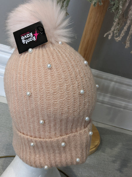 Blush  holly hat