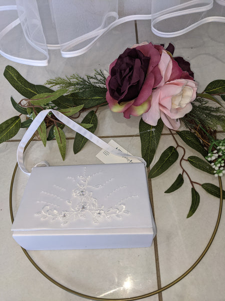 Lucy white first communion bag
