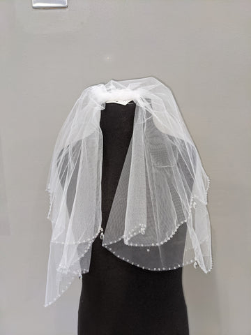 Crystal drop veil
