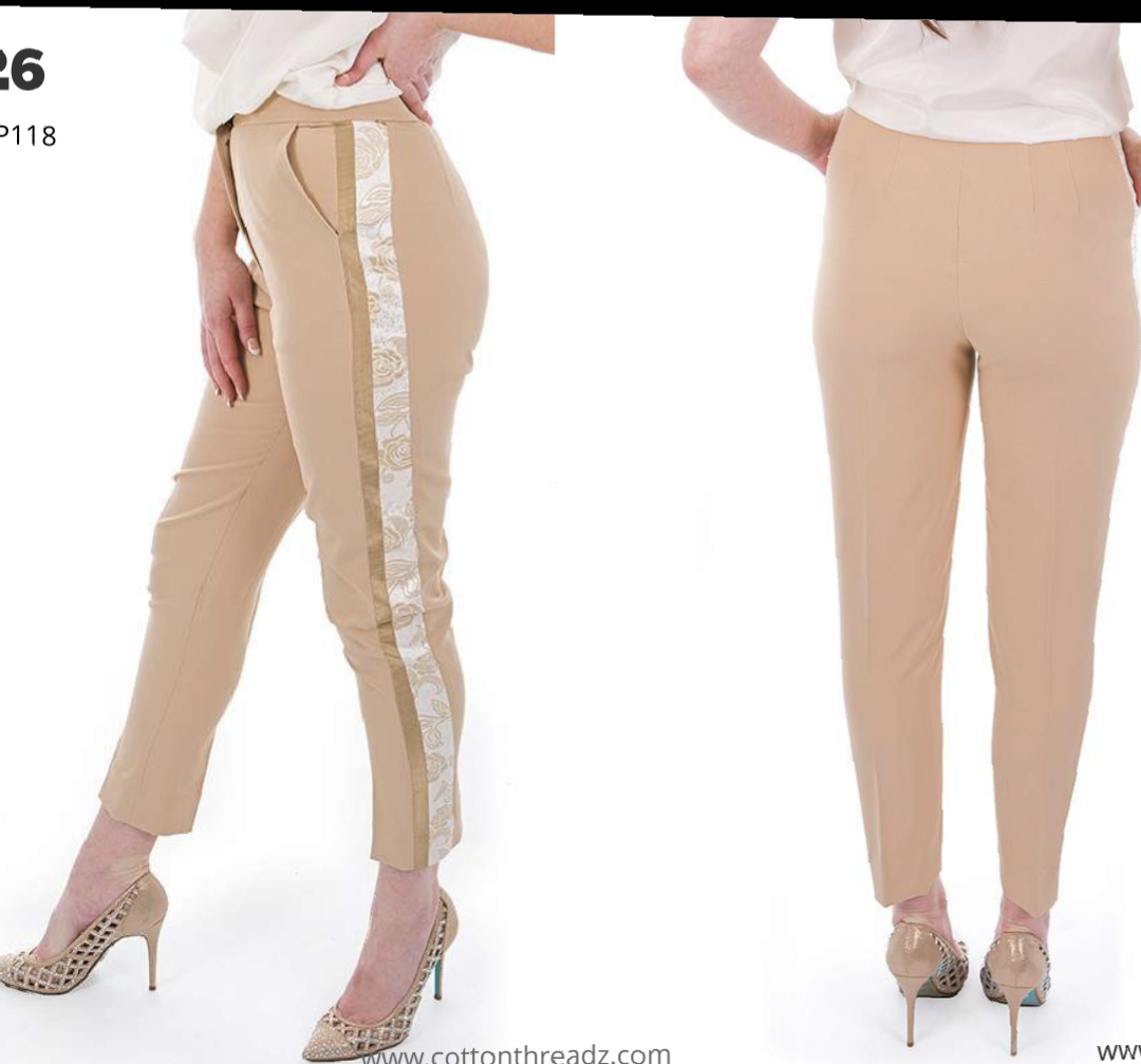 Harvey paul beige double pipe pants