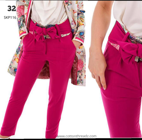 Harvey paul pink high band trousers