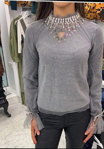 Darling sparkle grey top
