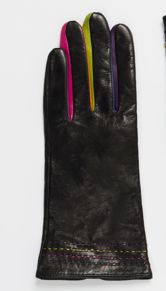 Real leather black  glove