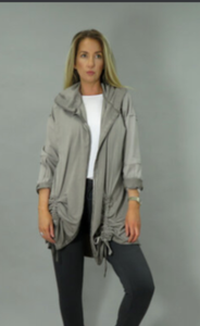 Decollage grey casual jacket