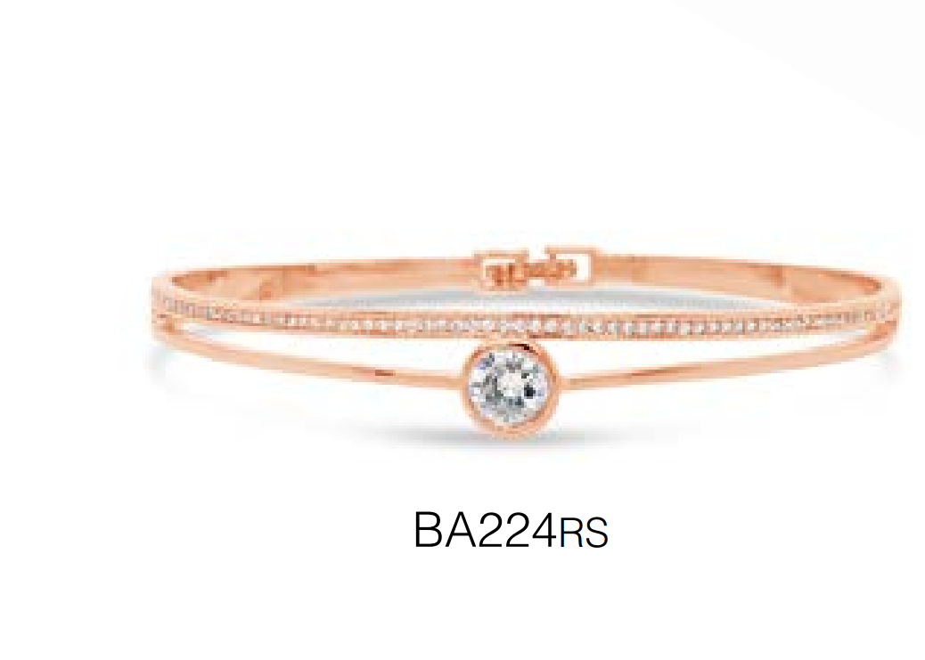 Absolute rose gold bangle