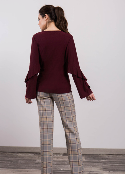 Alba conde prince of wales check trousers