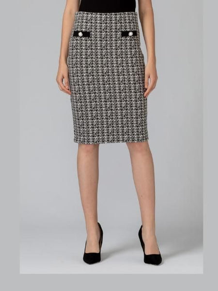 Joseph ribkoff check skirt