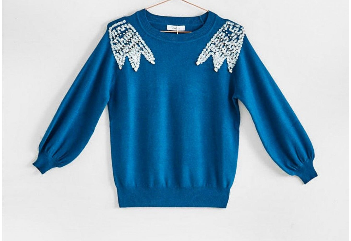 Darling knitwear teal  jumper