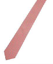 Reddendi Latin America - Handmade Pure Silk Necktie - Red & Light Blue - Reddendi