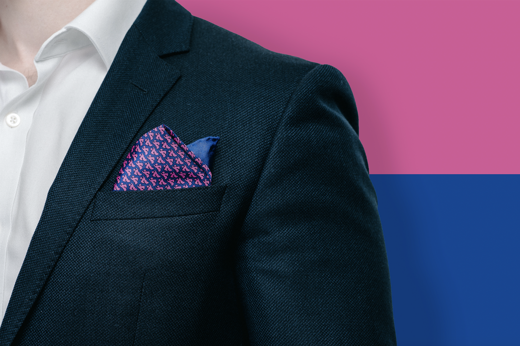 Middle East Pocket Square - Purple - Reddendi