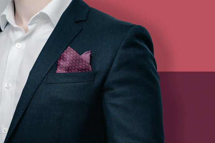 Middle East Pocket Square - Maroon